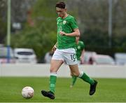 25 April 2019; Brandon Bermingham of Republic of Ireland  during the SAFIB Centenary Shield Under 18 Boys' International match between Republic of Ireland and Wales at Home Farm FC in Whitehall, Dublin. Photo by Matt Browne/Sportsfile
