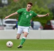 25 April 2019; Matthew O'Reilly of Republic of Ireland during the SAFIB Centenary Shield Under 18 Boys' International match between Republic of Ireland and Wales at Home Farm FC in Whitehall, Dublin. Photo by Matt Browne/Sportsfile