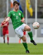 25 April 2019; Colin Kelly of Republic of Ireland during the SAFIB Centenary Shield Under 18 Boys' International match between Republic of Ireland and Wales at Home Farm FC in Whitehall, Dublin. Photo by Matt Browne/Sportsfile
