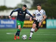 26 April 2019; Jack Byrne of Shamrock Rovers in action against Patrick McEleney of Dundalk during the SSE Airtricity League Premier Division match between Dundalk and Shamrock Rovers at Oriel Park in Dundalk, Louth. Photo by Seb Daly/Sportsfile