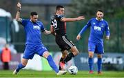 26 April 2019; Ali Reghba of Bohemians in action against Damien Delaney of Waterford during the SSE Airtricity League Premier Division match between Bohemians and Waterford at Dalymount Park in Dublin. Photo by Sam Barnes/Sportsfile