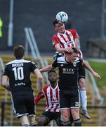 26 April 2019; David Parkhouse of Derry City in action against Dan Casey of Cork City during the SSE Airtricity League Premier Division match between Derry City and Cork City at the Ryan McBride Brandywell Stadium in Derry. Photo by Oliver McVeigh/Sportsfile