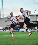 26 April 2019; Seán Hoare, right, Dane Massey of Dundalk during the SSE Airtricity League Premier Division match between Dundalk and Shamrock Rovers at Oriel Park in Dundalk, Louth. Photo by Seb Daly/Sportsfile