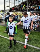 26 April 2019; Dane Massey of Dundalk during the SSE Airtricity League Premier Division match between Dundalk and Shamrock Rovers at Oriel Park in Dundalk, Louth. Photo by Seb Daly/Sportsfile