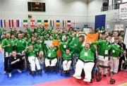 27 April 2019; Team Ireland during the opening ceremony at the I-Karate 3rd World Cup at DCU in Dublin. Photo by David Fitzgerald/Sportsfile