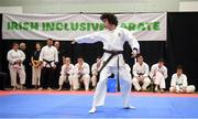 27 April 2019; Maksim Flood of Ireland in action during the I-Karate 3rd World Cup at DCU in Dublin. Photo by David Fitzgerald/Sportsfile