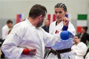 27 April 2019; Patricia Wright of Canada in action during the I-Karate 3rd World Cup at DCU in Dublin. Photo by David Fitzgerald/Sportsfile