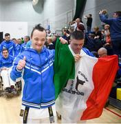 27 April 2019; Team Italy during the opening ceremony at the I-Karate 3rd World Cup at DCU in Dublin. Photo by David Fitzgerald/Sportsfile