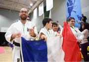 27 April 2019; Team France during the opening ceremony at the I-Karate 3rd World Cup at DCU in Dublin. Photo by David Fitzgerald/Sportsfile