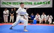 27 April 2019; Harry Elves of England in action during the I-Karate 3rd World Cup at DCU in Dublin. Photo by David Fitzgerald/Sportsfile
