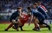 21 April 2019; Rynhardt Elstadt of Toulouse is tackled by Luke McGrath of Leinster during the Heineken Champions Cup Semi-Final match between Leinster and Toulouse at the Aviva Stadium in Dublin. Photo by Sam Barnes/Sportsfile