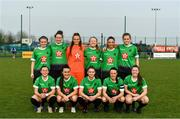 20 April 2019; The Peamount team ahead of the Só Hotels Women's National League match between Peamount United and Shelbourne at Greenogue in Rathcoole, Dublin. Photo by Sam Barnes/Sportsfile