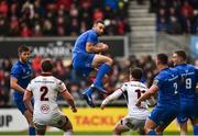 27 April 2019; Dave Kearney of Leinster takes a high ball during the Guinness PRO14 Round 21 match between Ulster and Leinster at the Kingspan Stadium in Belfast. Photo by Oliver McVeigh/Sportsfile