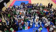 27 April 2019; Participants, coaches, judges, family members and others following the I-Karate 3rd World Cup at DCU in Dublin. Photo by David Fitzgerald/Sportsfile