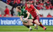 27 April 2019; Kieran Marmion of Connacht in action against Neil Cronin of Munster during the Guinness PRO14 Round 21 match between Munster and Connacht at Thomond Park in Limerick. Photo by Brendan Moran/Sportsfile