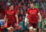 27 April 2019; Peter O'Mahony, right, and CJ Stander of Munster during the Guinness PRO14 Round 21 match between Munster and Connacht at Thomond Park in Limerick. Photo by Diarmuid Greene/Sportsfile