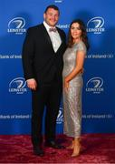 28 April 2019; On arrival at the Leinster Rugby Awards Ball are Jack McGrath and Sinéad Corcoran. The Leinster Rugby Awards Ball, taking place at the InterContinental Dublin were a celebration of the 2018/19 Leinster Rugby season to date. Photo by Ramsey Cardy/Sportsfile