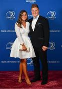 28 April 2019; On arrival at the Leinster Rugby Awards Ball are Ashley Doyle and James Tracy. The Leinster Rugby Awards Ball, taking place at the InterContinental Dublin were a celebration of the 2018/19 Leinster Rugby season to date. Photo by Ramsey Cardy/Sportsfile