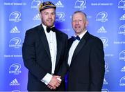 28 April 2019; Leinster Rugby departee Sean O'Brien is presented with his cap by Leinster Branch President Lorcan Balfe. The Leinster Rugby Awards Ball, taking place at the InterContinental Dublin and MC'd by Darragh Maloney, were a celebration of the 2018/19 Leinster Rugby season to date and over the course of the evening Leinster Rugby acknowledged the contributions of departees Seán O'Brien, Jack McGrath, Noel Reid, Mick Kearney, Nick McCarthy, Tom Daly and Ian Nagle. Former Leinster, Ireland and British & Irish Lions player Paul Dean was inducted into the Guinness Hall of Fame. Some of the other Award winners on the night included; St. Michael's College (Deep River Rock School of the Year), Larry Halpin, Terenure College (Beauchamps Contribution to Leinster Rugby Award), Naas RFC (CityJet Senior Club of the Year), Patrician Secondary School Newbridge (Irish Independent Development School of the Year Award), Suttonians RFC (Bank of Ireland Junior Club of the Year) and Sene Naoupu (Energia Women's Rugby Award). Photo by Brendan Moran/Sportsfile