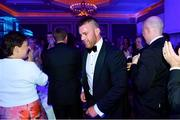 28 April 2019; Leinster Rugby departee Sean O'Brien makes his way to the stage. The Leinster Rugby Awards Ball, taking place at the InterContinental Dublin and MC'd by Darragh Maloney, were a celebration of the 2018/19 Leinster Rugby season to date and over the course of the evening Leinster Rugby acknowledged the contributions of departees Seán O'Brien, Jack McGrath, Noel Reid, Mick Kearney, Nick McCarthy, Tom Daly and Ian Nagle. Former Leinster, Ireland and British & Irish Lions player Paul Dean was inducted into the Guinness Hall of Fame. Some of the other Award winners on the night included; St. Michael's College (Deep River Rock School of the Year), Larry Halpin, Terenure College (Beauchamps Contribution to Leinster Rugby Award), Naas RFC (CityJet Senior Club of the Year), Patrician Secondary School Newbridge (Irish Independent Development School of the Year Award), Suttonians RFC (Bank of Ireland Junior Club of the Year) and Sene Naoupu (Energia Women's Rugby Award). Photo by Ramsey Cardy/Sportsfile