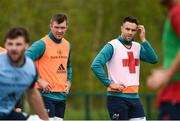 29 April 2019; Peter O'Mahony, left, and Conor Murray during Munster Rugby squad training at the University of Limerick in Limerick. Photo by Diarmuid Greene/Sportsfile