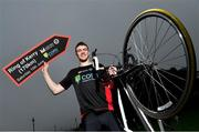 29 April 2019; Kildare footballer Kevin Feely at the launch of the 'Get Breathless for COPD Cycle'. Supported by A.Menarini Pharmaceuticals and held in partnership with COPD Support Ireland, it aims to raise much-needed funds for COPD Support Ireland and pulmonary rehabilitation services. Photo by Brendan Moran/Sportsfile