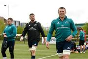 29 April 2019; CJ Stander, right, Jean Kleyn, centre, and Dave Kilcoyne arrive for Munster Rugby squad training at the University of Limerick in Limerick. Photo by Diarmuid Greene/Sportsfile