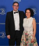 28 April 2019; On arrival at the Leinster Rugby Awards Ball are Claire and Barry Kilcline. The Leinster Rugby Awards Ball, taking place at the InterContinental Dublin were a celebration of the 2018/19 Leinster Rugby season to date. Photo by Ramsey Cardy/Sportsfile