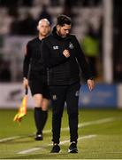29 April 2019; Shamrock Rovers manager Stephen Bradley celebrates at the final whistle following his side's victory during the SSE Airtricity League Premier Division match between Shamrock Rovers and St Patrick's Athletic at Tallaght Stadium in Dublin. Photo by Seb Daly/Sportsfile