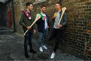 30 April 2019; 2017 All-Ireland hurling champion, Galway's Gearoid McInerney, left, reigning All-Ireland hurling champion Tom Morrissey, centre, and highest scorer of the 2018 hurling championship Clare's Peter Duggan is pictured at the launch of the Littlewoods Ireland #StyleOfPlay campaign. Littlewoods Ireland are proud sponsors of the All Ireland Senior Hurling Championship. Their #StyleOfPlay campaign continues to bring together the worlds of sport and fashion while showcasing the style and skills of the players on and off the pitch. Keep up to date with all #StyleOfPlay updates on the Littlewoods Ireland Website and follow them on Facebook, Twitter and Instagram. Photo by Ramsey Cardy/Sportsfile