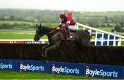 30 April 2019; Delta Work, with Davy Russell up, clear the last on their way to winning the Dooley Insurance Group Champion Novice Steeplechase at Punchestown Racecourse in Naas, Kildare. Photo by David Fitzgerald/Sportsfile