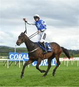 1 May 2019; Kemboy, with Ruby Walsh up, celebrate after crossing the line to win The Coral Punchestown Gold Cup during the Punchestown Festival Gold Cup Day at Punchestown Racecourse in Naas, Kildare. Photo by David Fitzgerald/Sportsfile