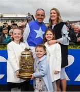 1 May 2019; Winning jockey Ruby Walsh with his wife Gillian and children, Gemma, Elsa and Isabelle after he announced his retirement following The Coral Punchestown Gold Cup on Kemboy during the Punchestown Festival Gold Cup Day at Punchestown Racecourse in Naas, Kildare. Photo by David Fitzgerald/Sportsfile