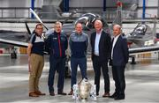 3 May 2019; In attendance, from left, Wexford selector Seoirse Bulfin, Carlow manager Colm Bonnar, Dublin manager Mattie Kenny, Kilkenny manager Brian Cody and Galway manager Michael O'Donohue during the launch of the Leinster GAA Senior Championships at the Casement Aerodrome in Baldonnel, Dublin. Photo by Ramsey Cardy/Sportsfile