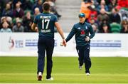 3 May 2019; Eoin Morgan of England after catching out Lorcan Tucker of Ireland during the One Day International between Ireland and England at Malahide Cricket Ground in Dublin. Photo by Sam Barnes/Sportsfile