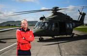 3 May 2019; Louth manager Wayne Kierans poses for a portrait during the launch of the Leinster GAA Senior Championships at the Casement Aerodrome in Baldonnel, Dublin. Photo by David Fitzgerald/Sportsfile