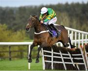 3 May 2019; Buveur D'air, with Davy Russell up, jumps the last on their way to winning the BETDAQ Punchestown Champion Hurdle at Punchestown Racecourse in Naas, Kildare. Photo by Seb Daly/Sportsfile