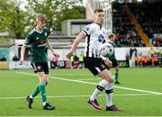 3 May 2019; Patrick McEleney of Dundalk in action against Ciaron Harkin of Derry City during the SSE Airtricity League Premier Division match between Dundalk and Derry City at Oriel Park in Dundalk, Louth. Photo by Oliver McVeigh/Sportsfile
