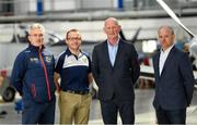 3 May 2019; In attendance, from left, Carlow manager Colm Bonnar, Wexford selector Seoirse Bulfin, Kilkenny manager Brian Cody and Galway manager Micheal Donoghue during the launch of the Leinster GAA Senior Championships at the Casement Aerodrome in Baldonnel, Dublin. Photo by Ramsey Cardy/Sportsfile
