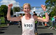 4 May 2019; Catherina McKiernan of Annalee A.C, Cavan celebrates after winning the Irish Runner 5k in conjunction with the AAI National 5k Championships, Phoenix Park in Dublin. Photo by Brendan Moran/Sportsfile