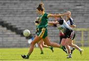 4 May 2019; Maire O'Shaughnessy of Meath in action against Ann Marie Coleman of Sligo during the Lidl Ladies NFL Division 3 Final between Meath and Sligo at St Tiernach's Park, Clones in Monaghan. Photo by Matt Browne/Sportsfile