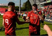 4 May 2019; Conor Murray and Peter O'Mahony of Munster after the Guinness PRO14 quarter-final match between Munster and Benetton Rugby at Thomond Park in Limerick. Photo by Diarmuid Greene/Sportsfile