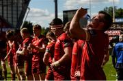 4 May 2019; Peter O'Mahony of Munster takes a drink of water after the Guinness PRO14 quarter-final match between Munster and Benetton Rugby at Thomond Park in Limerick. Photo by Diarmuid Greene/Sportsfile
