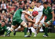 4 May 2019; Marcel Coetzee of Ulster is tackled by Eoin McKeon of Connacht during the Guinness PRO14 quarter-final match between Ulster and Connacht at Kingspan Stadium in Belfast. Photo by David Fitzgerald/Sportsfile