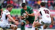 4 May 2019; Jarrad Butler of Connacht in action against Jordi Murphy and Billy Burns of Ulster during the Guinness PRO14 quarter-final match between Ulster and Connacht at Kingspan Stadium in Belfast. Photo by Brendan Moran/Sportsfile