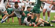 4 May 2019; Marcel Coetzee of Ulster scores his side's second try during the Guinness PRO14 quarter-final match between Ulster and Connacht at Kingspan Stadium in Belfast. Photo by John Dickson/Sportsfile