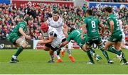 4 May 2019; Eric O'Sullivan of Ulster is tackled by Denis Buckley of Connacht during the Guinness PRO14 quarter-final match between Ulster and Connacht at Kingspan Stadium in Belfast. Photo by John Dickson/Sportsfile