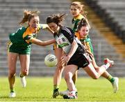 4 May 2019; Lauren Boles of Sligo in action against Aoibhin Cleary and Maire O'Shaughnessy of Meath during the Lidl Ladies NFL Division 3 Final between Meath and Sligo at St Tiernach's Park, Clones in Monaghan. Photo by Matt Browne/Sportsfile