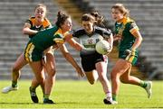 4 May 2019; Lauren Boles of Sligo in action against Aoibhin Cleary, Maire O'Shaughnessy and Katie Newe of Meath during the Lidl Ladies NFL Division 3 Final between Meath and Sligo at St Tiernach's Park, Clones in Monaghan. Photo by Matt Browne/Sportsfile