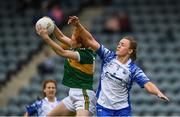 5 May 2019; Louise Ni Mhuireachtaigh of Kerry in action against Caoimhe McGrath of Waterford during the Lidl Ladies National Football League Division 2 Final match between Kerry and Waterford at Parnell Park in Dublin. Photo by Ray McManus/Sportsfile
